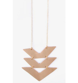 Cropped Chevron Necklace, India