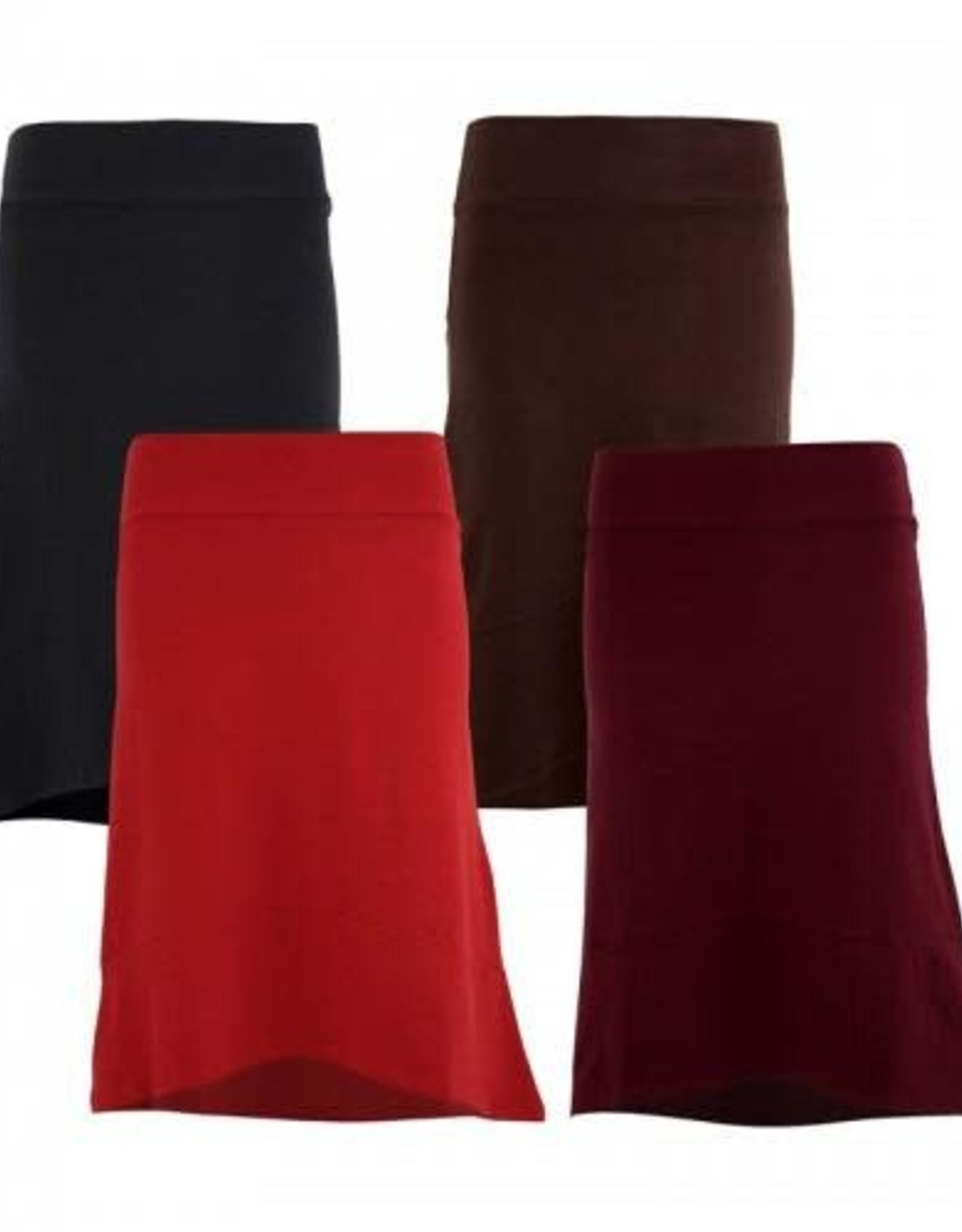 Organic High Low BLACK  Skirt, India