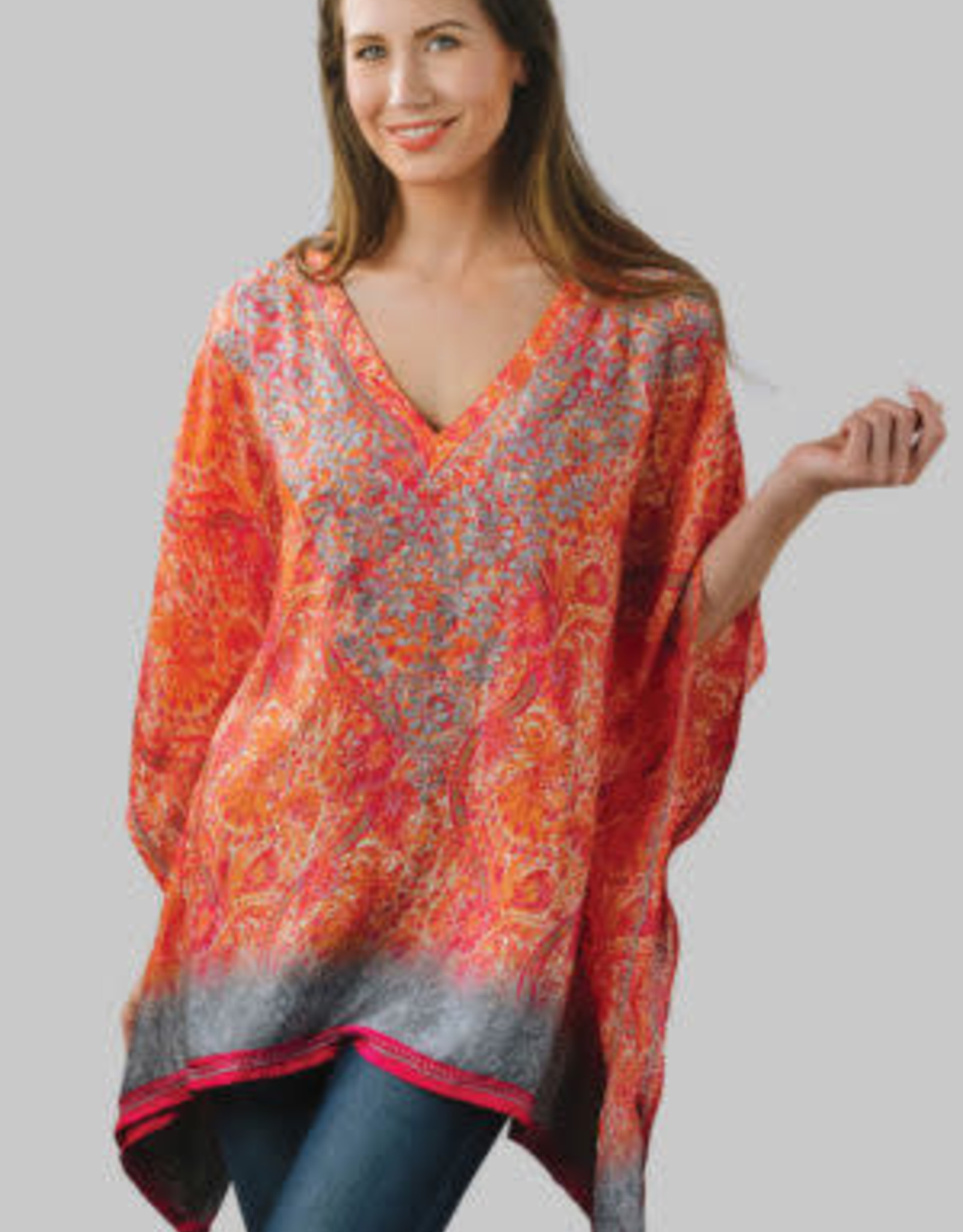 feb19 India, Demira Embroidered Top Orange