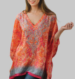 feb19 Demira Embroidered Top Orange, India