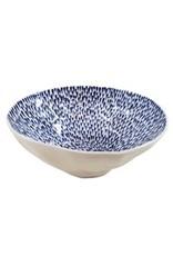 Large Serving Bowl, Tear Drop Blue