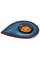 Vietnam, Blue Glaze Pointed Candle Holder