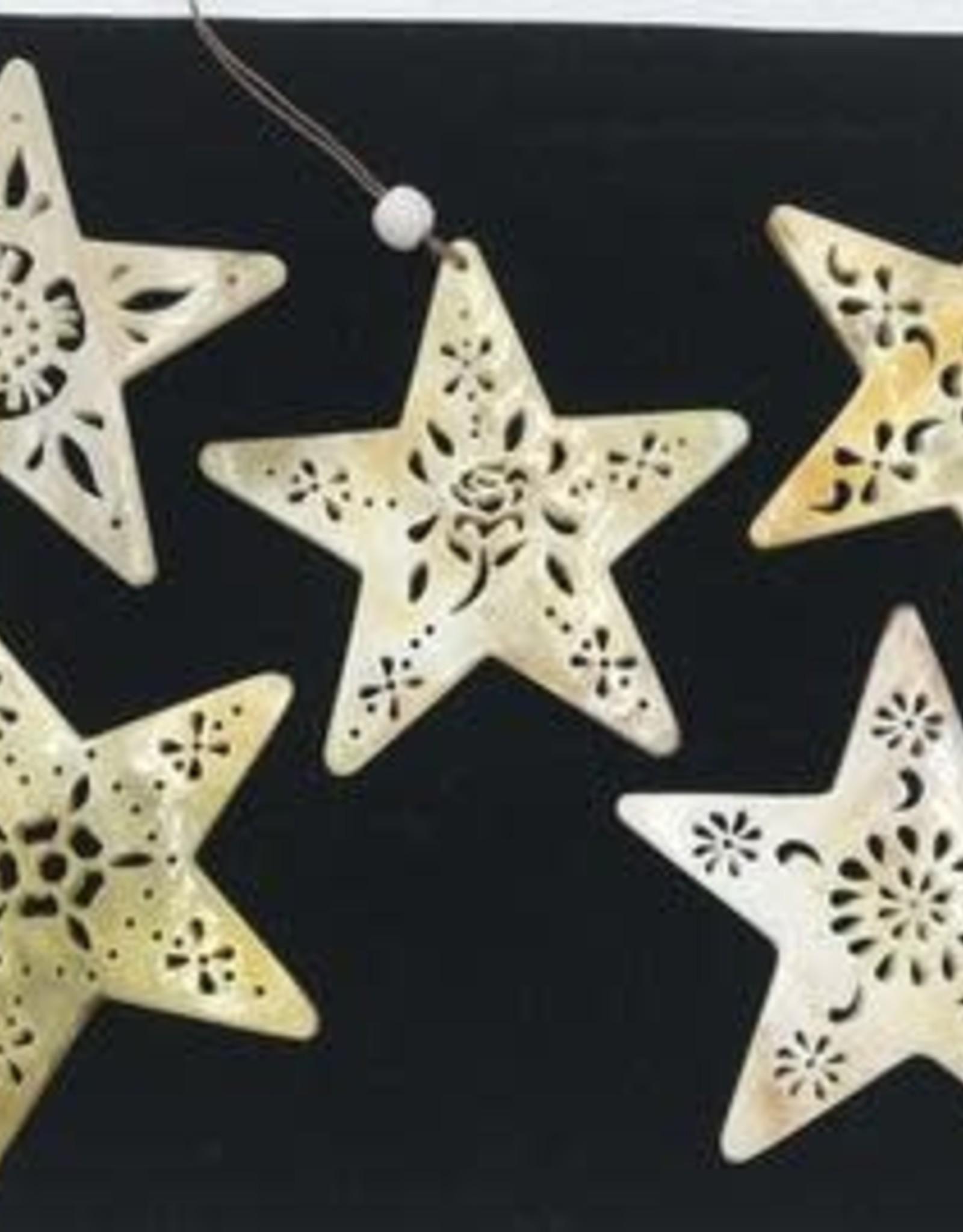 Peru, Horn Ornaments Star