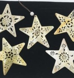 Peru, Horn Ornaments Star