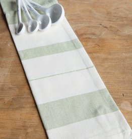 India, 27 x 19 Cotton Handwoven Kitchen Towels Sage