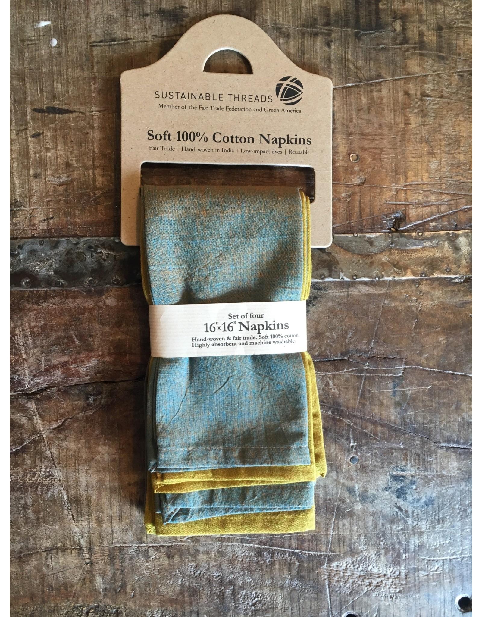 16 x 16 Cotton Napkins, Bliss, India