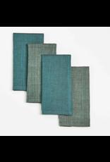 16 x 16 Cotton Napkins, Set of 4,  Metallic, India
