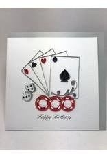 Casino Birthday Quilling Card, Vietnam
