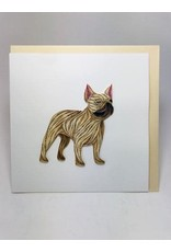 French Bulldog Quill Card