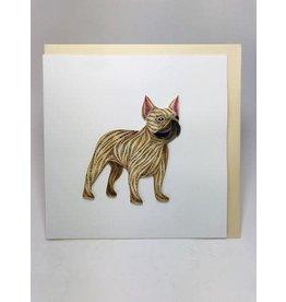 French Bulldog Quilling Card, Vietnam