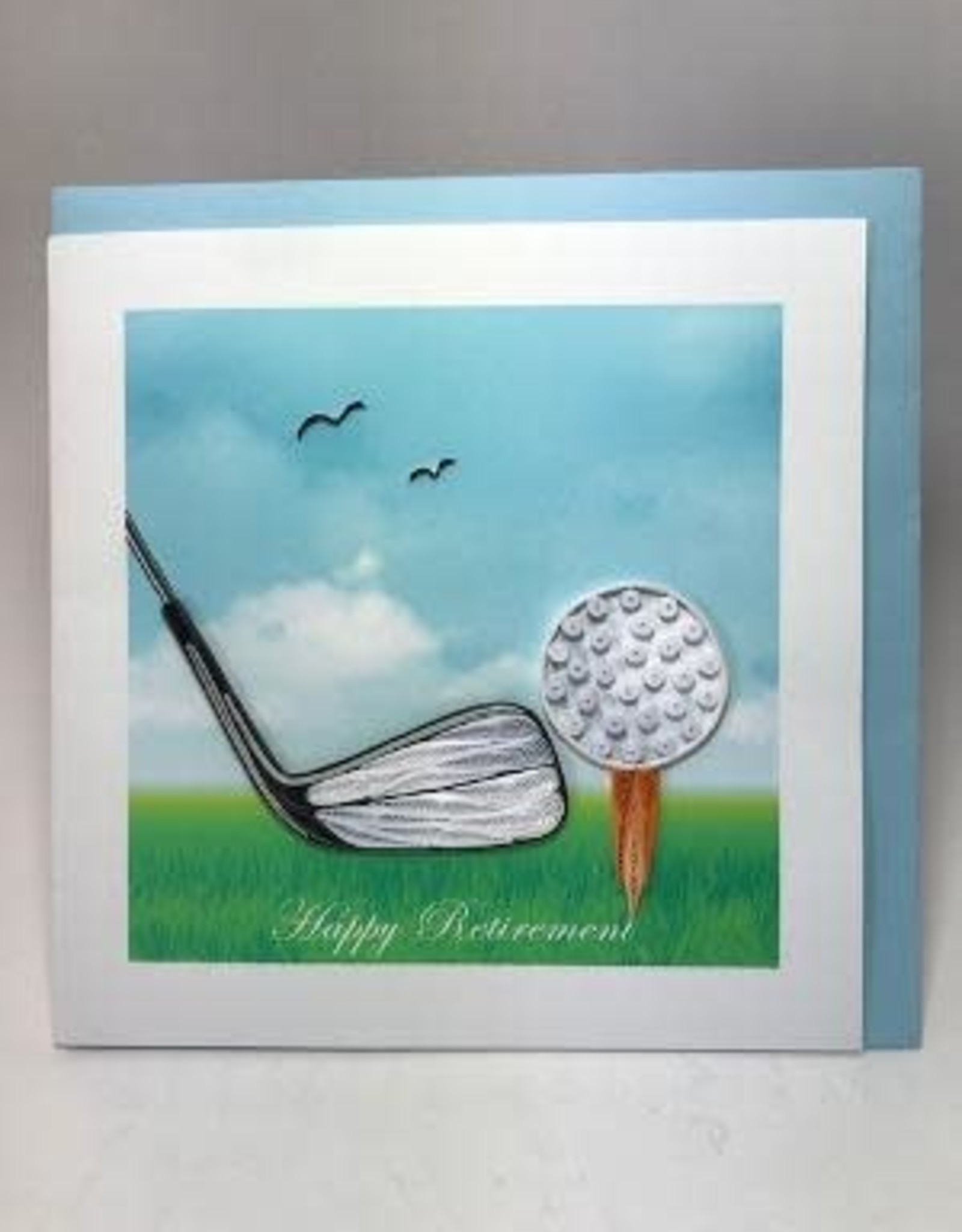 Happy Retirement Golf Quill Card