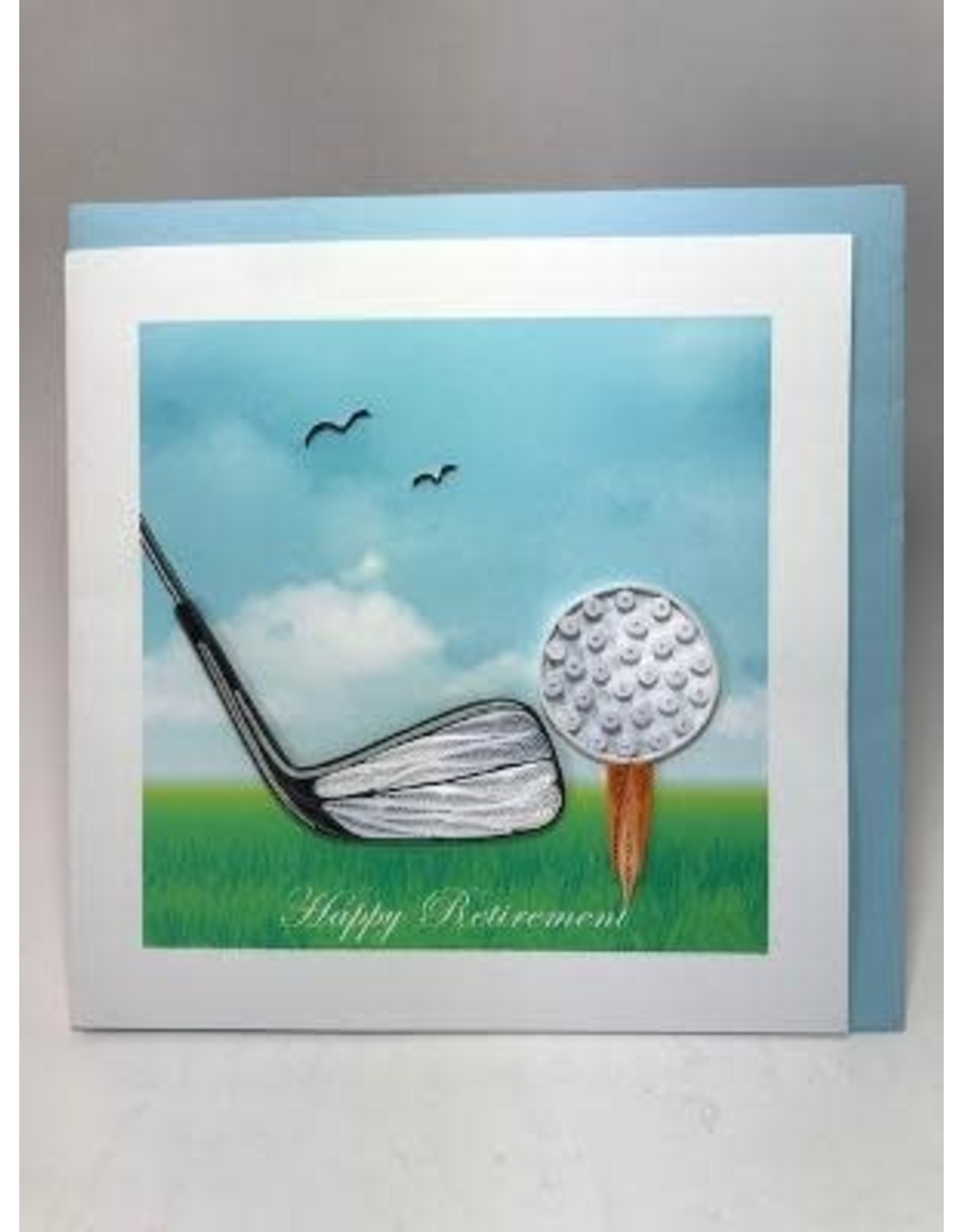 Happy Retirement Golf Quilling Card, Vietnam
