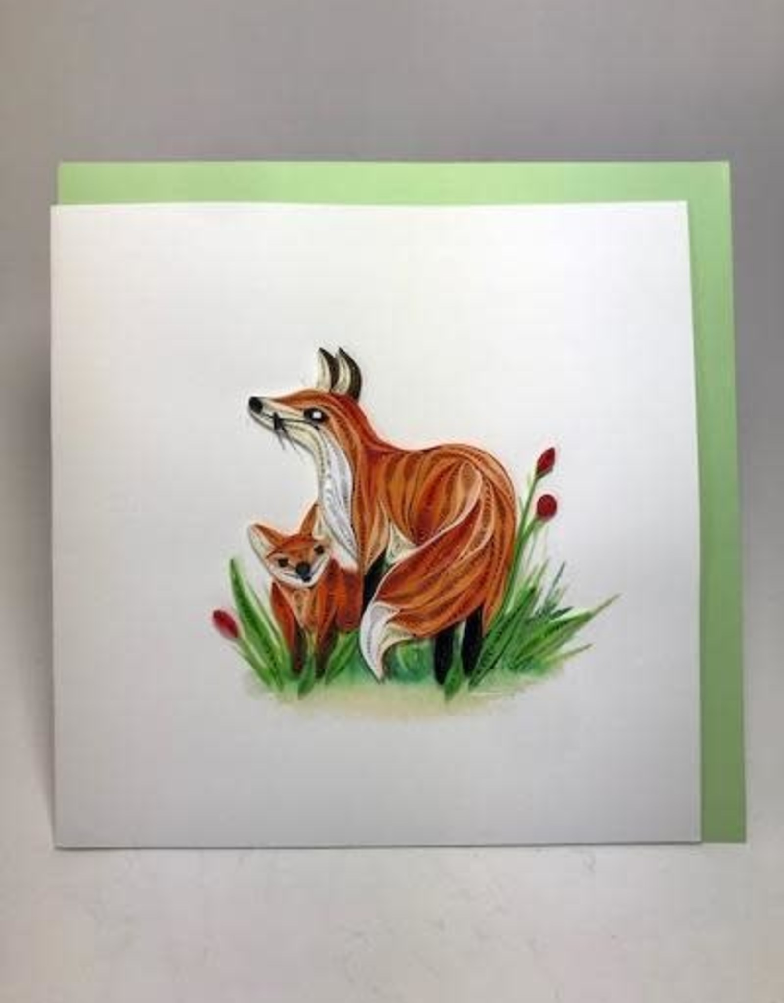 Vietnam, Quilling Cards Fox and Cub
