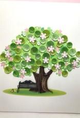Vietnam, Quilling Cards Spring Tree