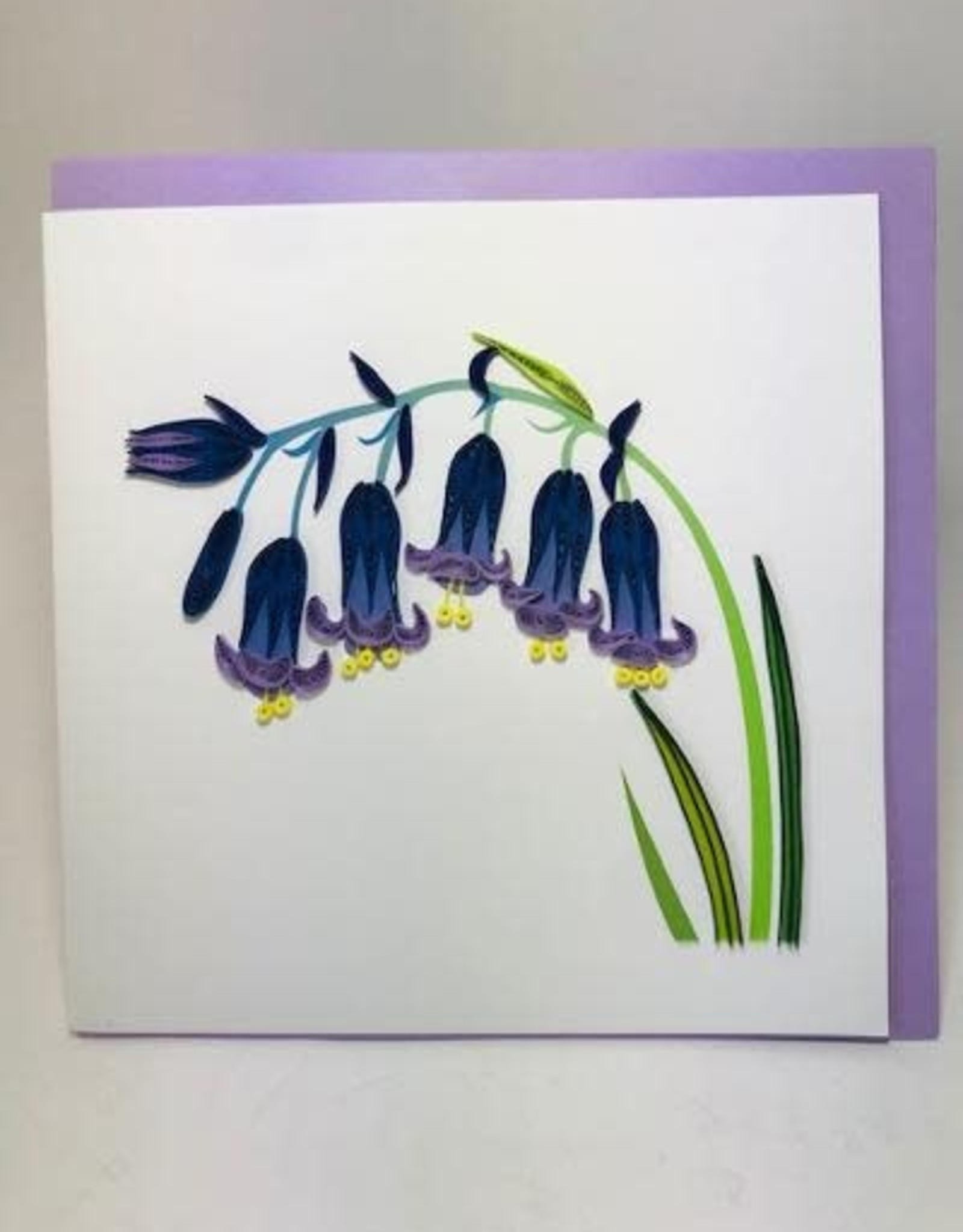 Quill Bluebells Card
