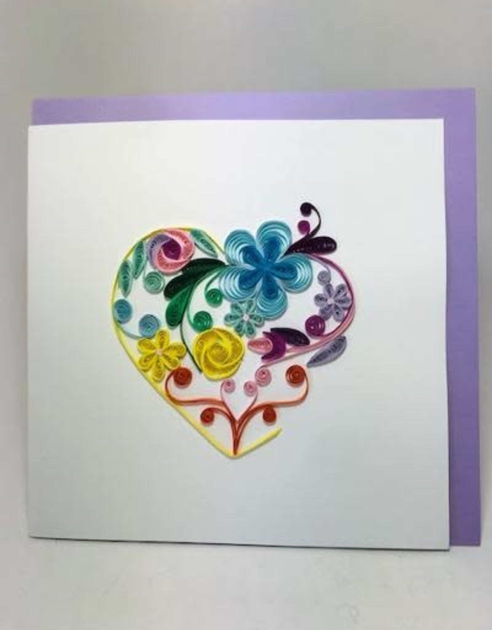 Vietnam, Quilling Cards Floral Rainbow Heart