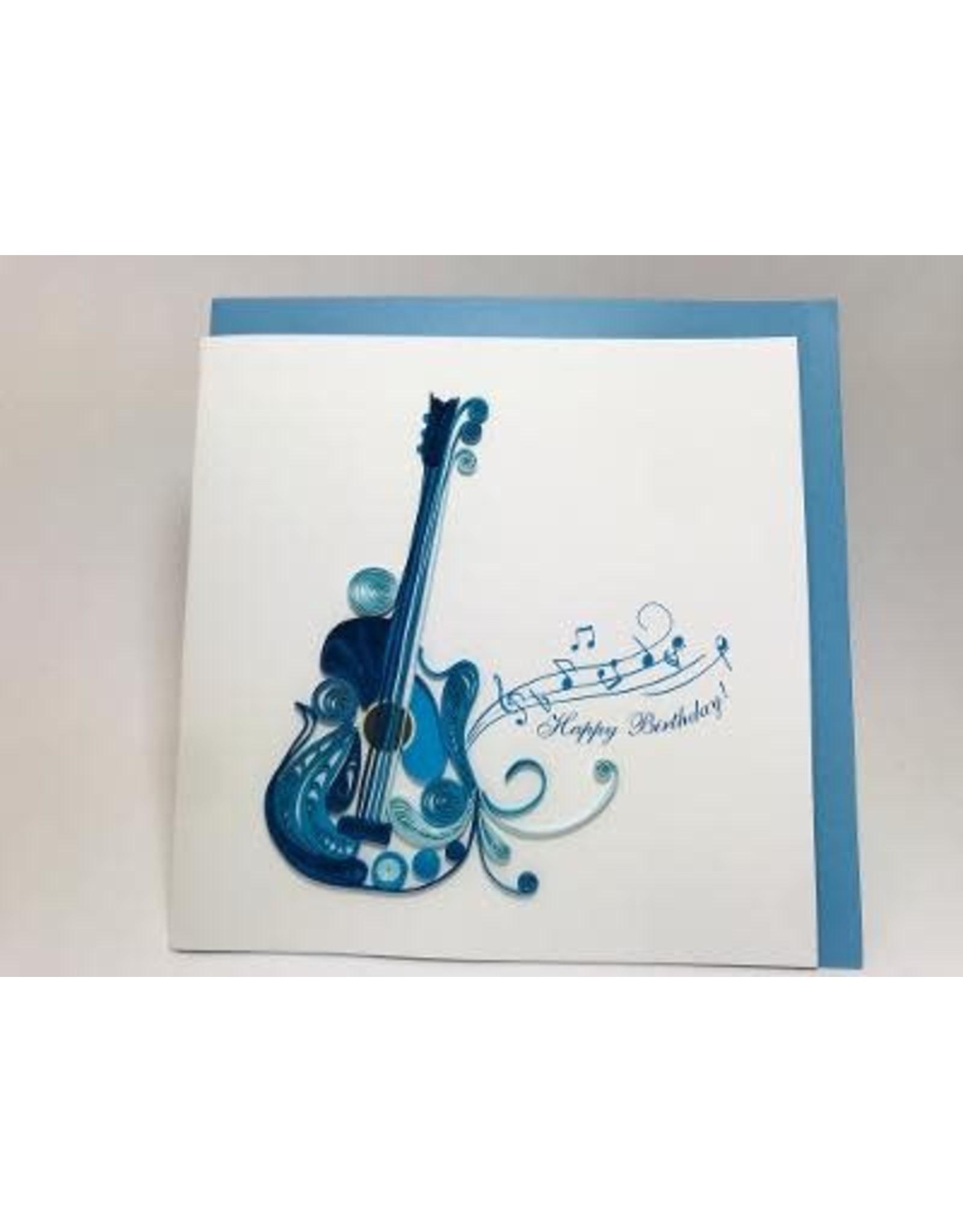 Guitar Birthday Quilling Card, Vietnam
