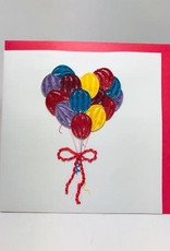 Balloons Quill Card