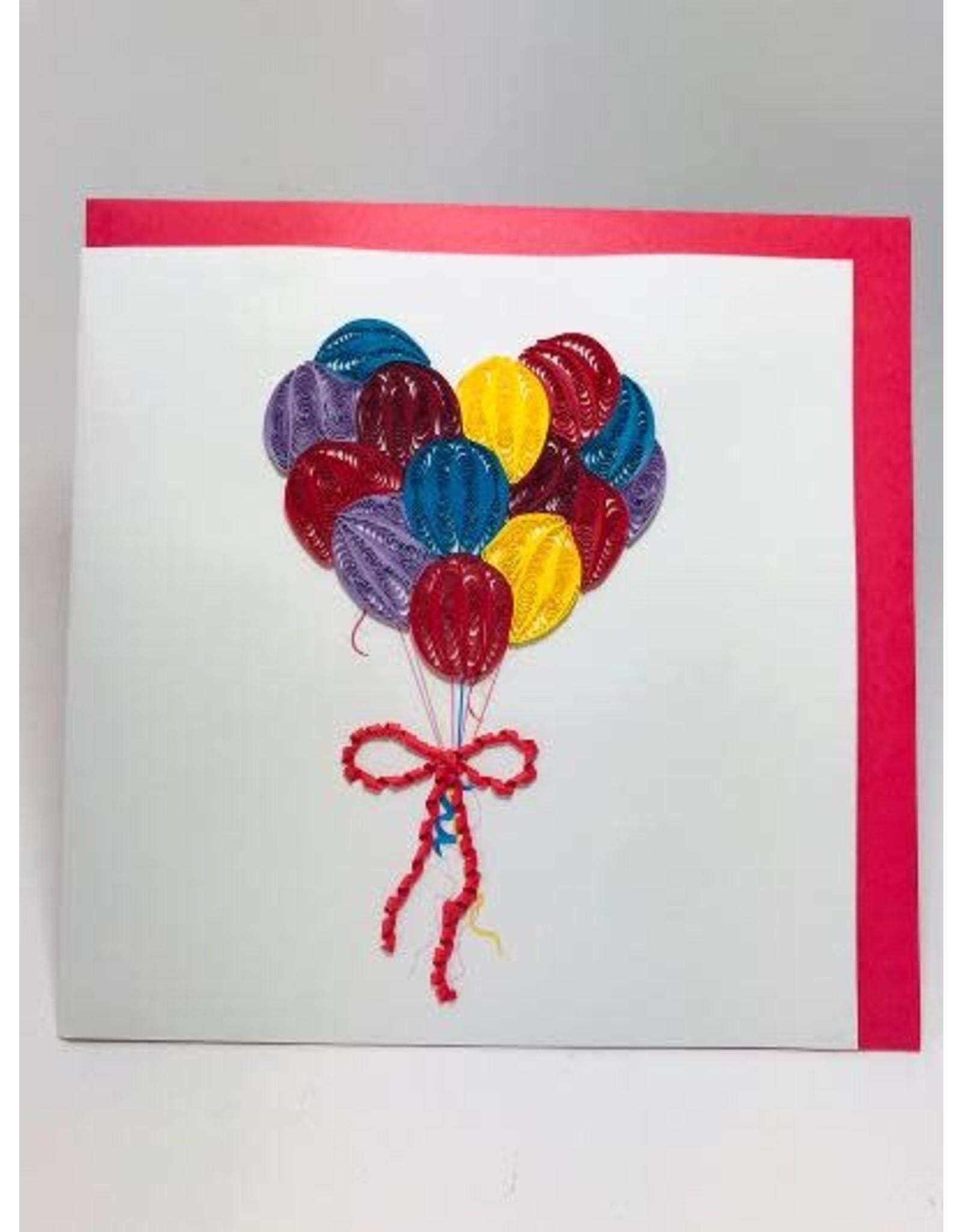 Balloons Quill Card, Vietnam