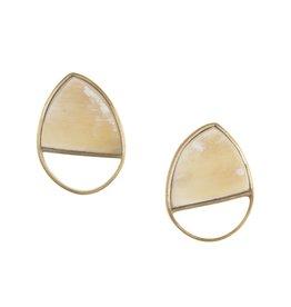 Magdalena Horn Post Earrings, Light
