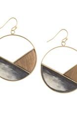 Vietnam, Emilia Geometric Dark Horn Earrings