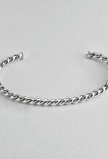 Twisted  Sterling Silver Cuff Slender