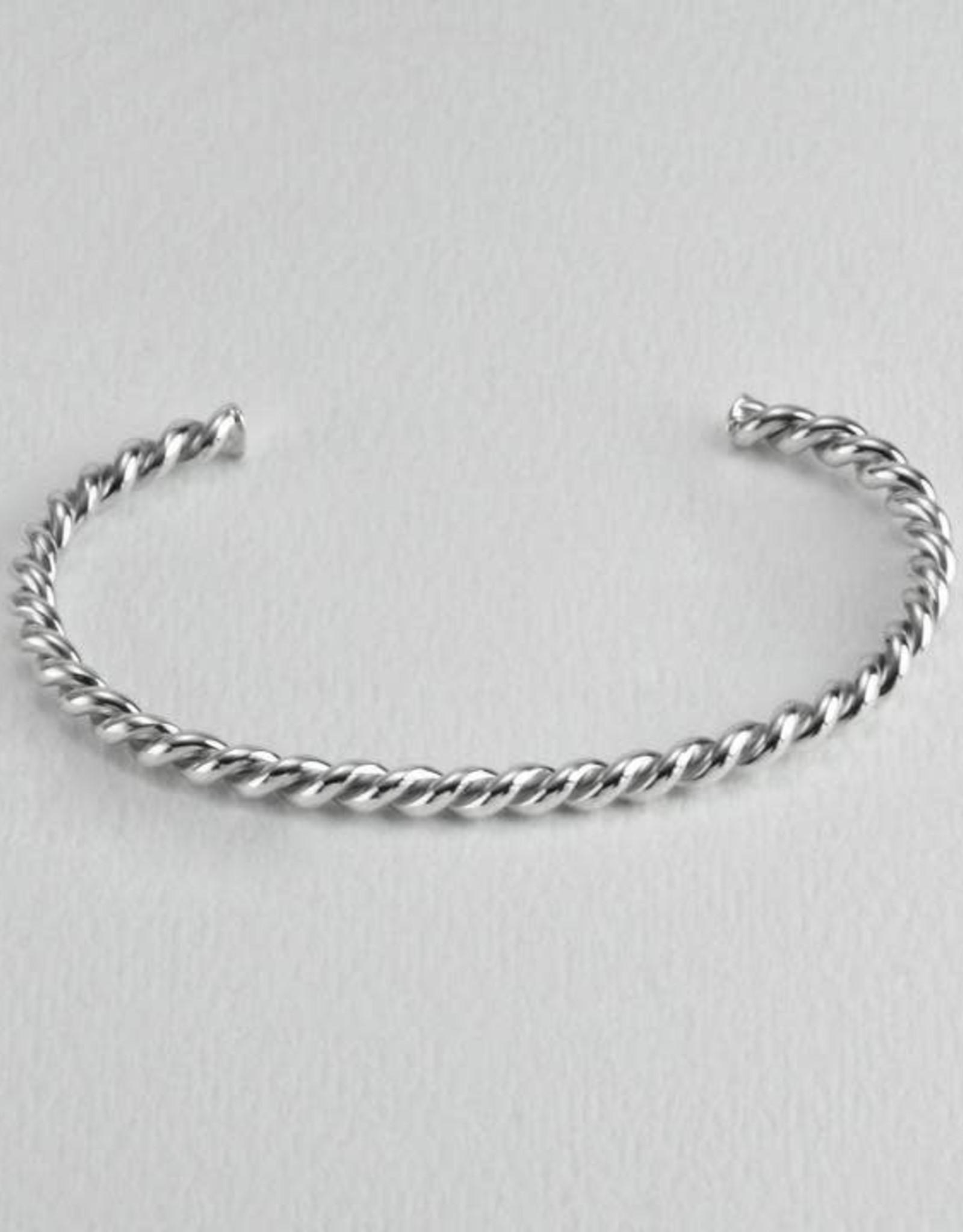 Twisted Silver Cuff Slender