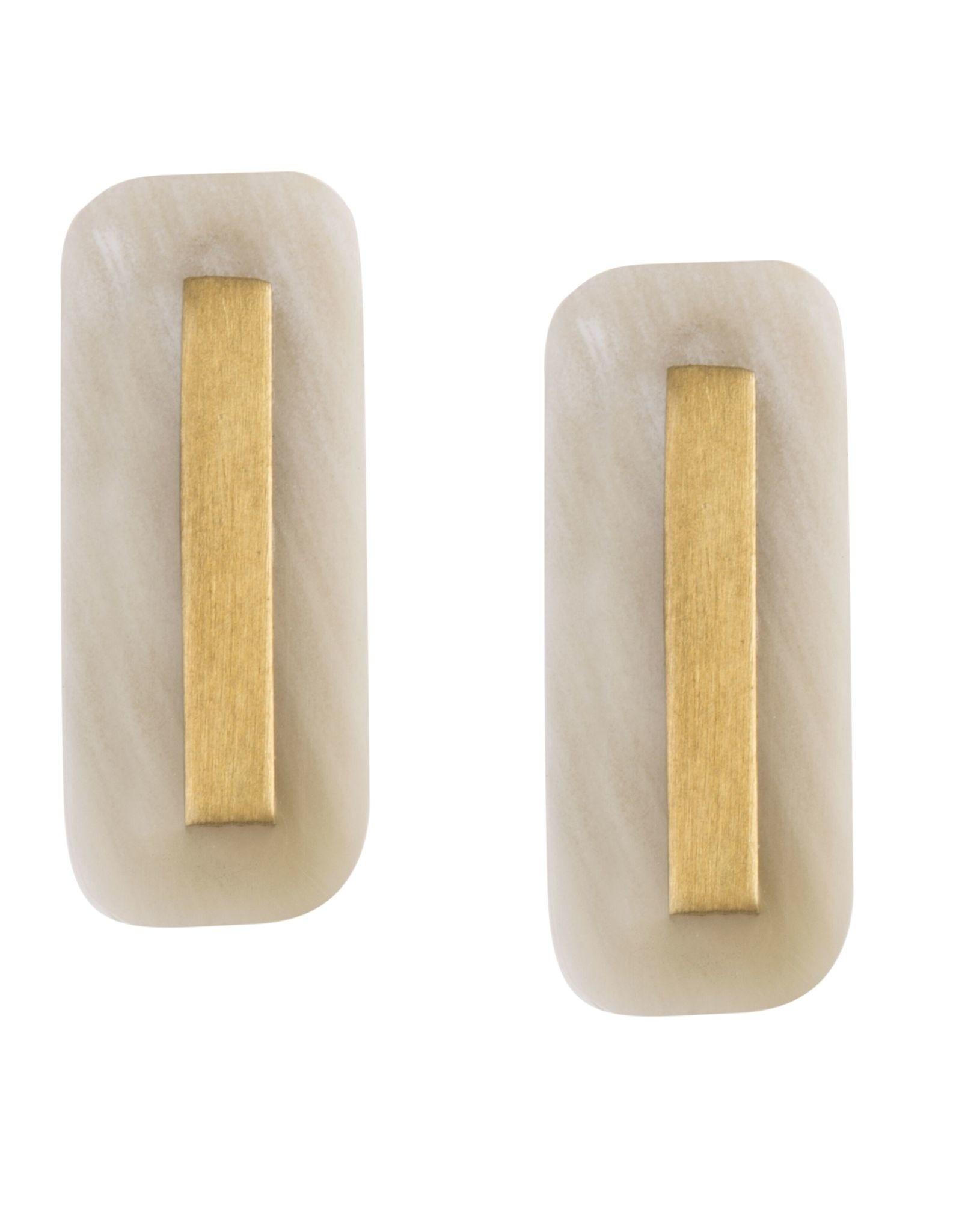 Martina Horn Post Earrings,  Light