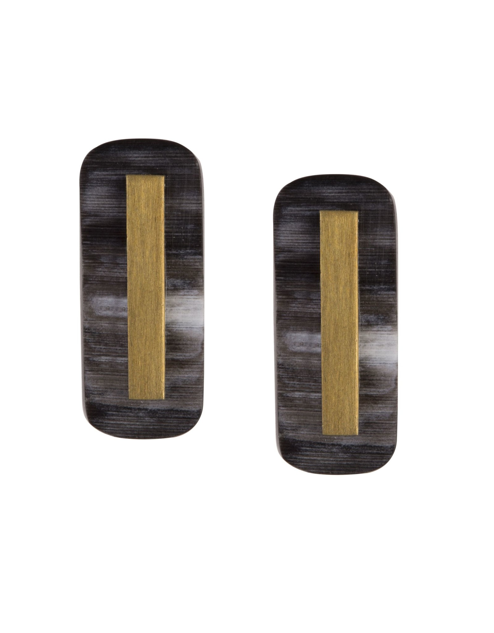 Martina Horn Post Earrings, Dark