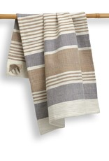 India, 27 x 19 Cotton Handwoven Kitchen Towels Pebble