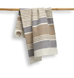 India, 27 x 19 Cotton Handwoven Kitchen Towels Pebble