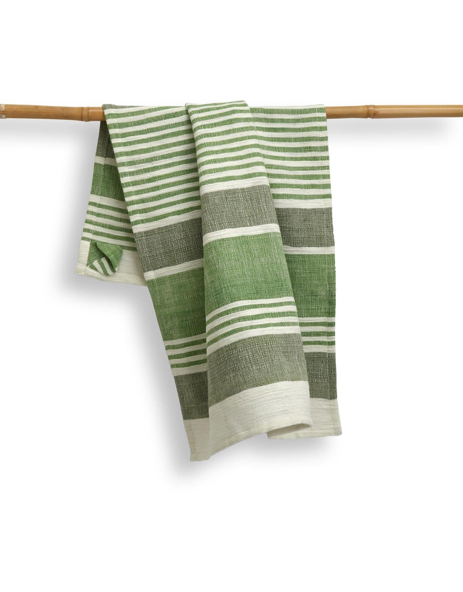 India, 27 x 19 Cotton Handwoven Kitchen Towels Fern