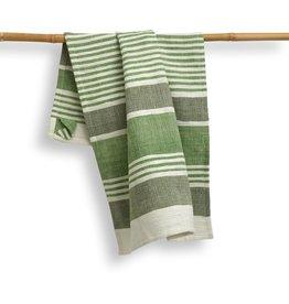 27 x 19 Cotton Handwoven Kitchen Towel,  Fern, India
