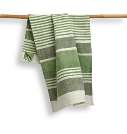 India, 27 x 19 Cotton Handwoven Kitchen Towels Fern
