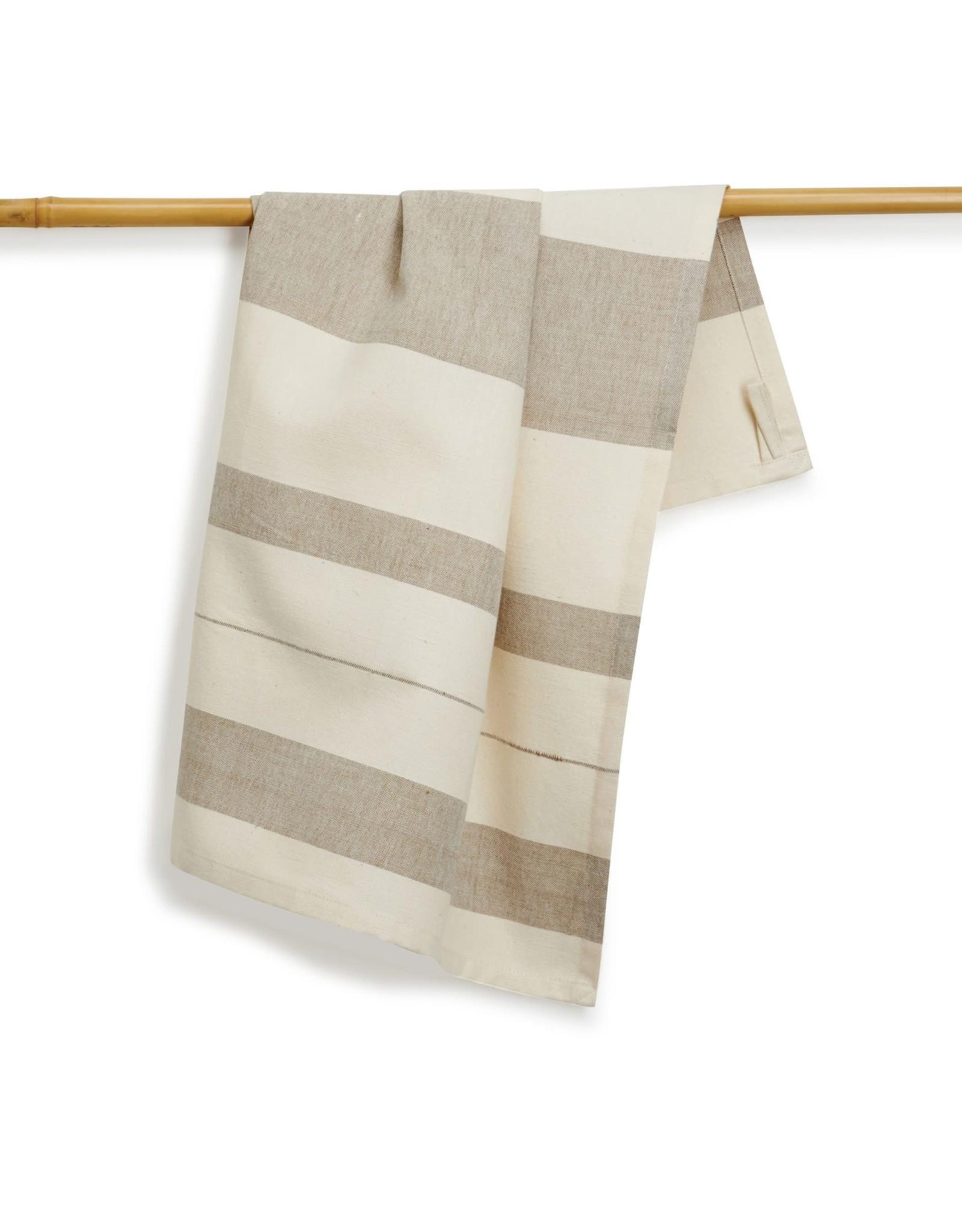 27 x 19 Cotton Handwoven Kitchen Towel, Bay Leaf, India
