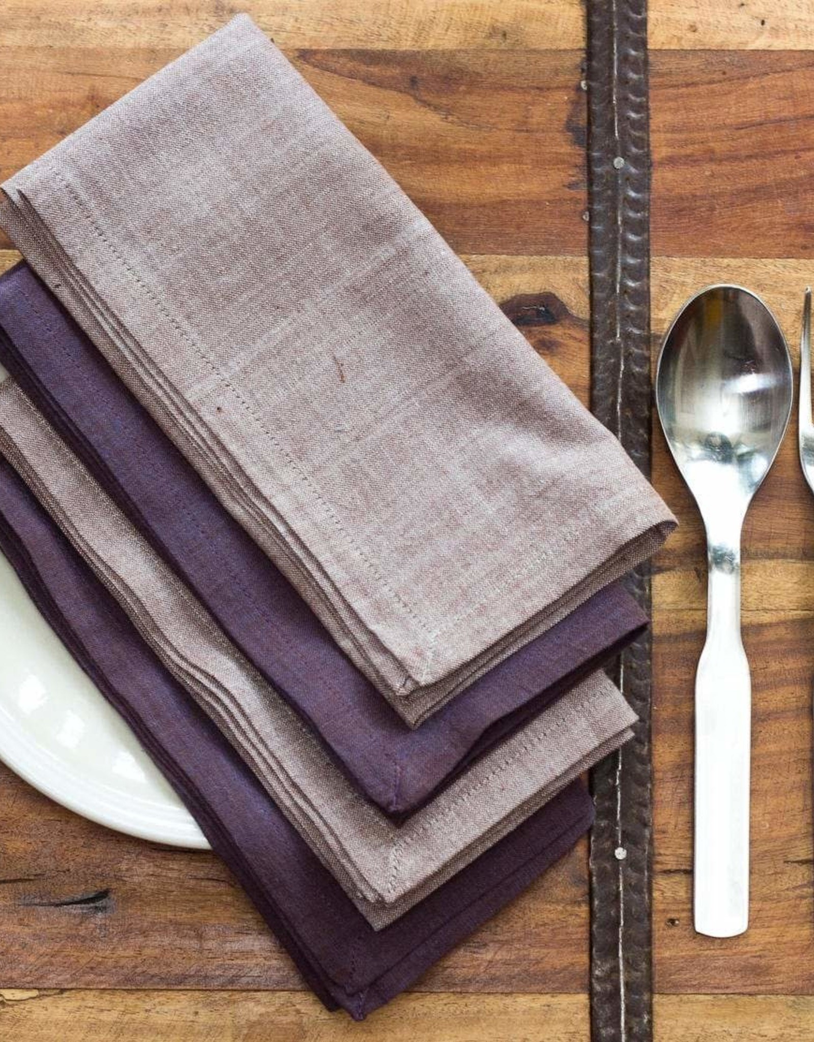 16x16 Cotton Napkins, Set of 4 - Dusk