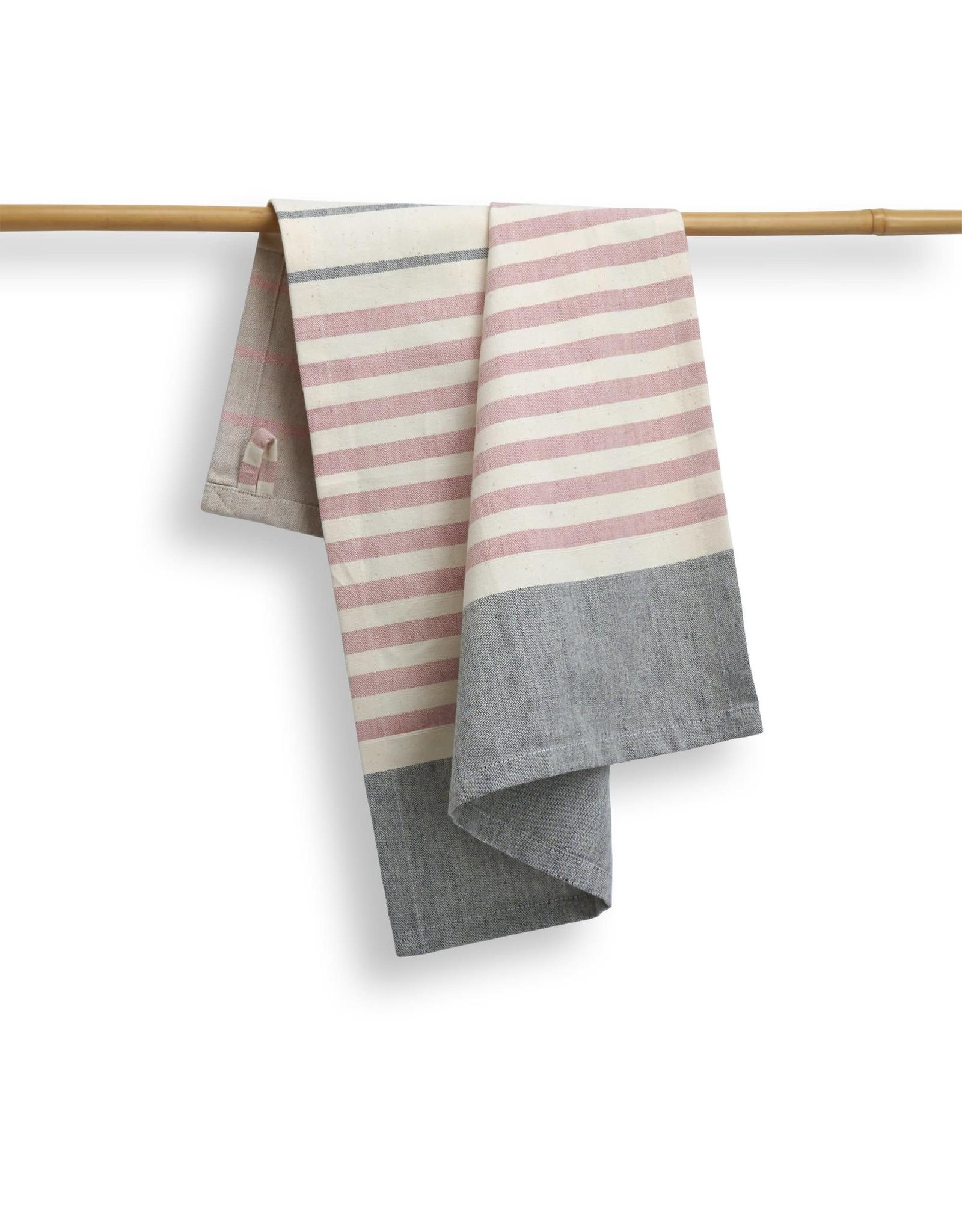 27 x 19 Cotton Handwoven Kitchen Towel, Peppercorn, India