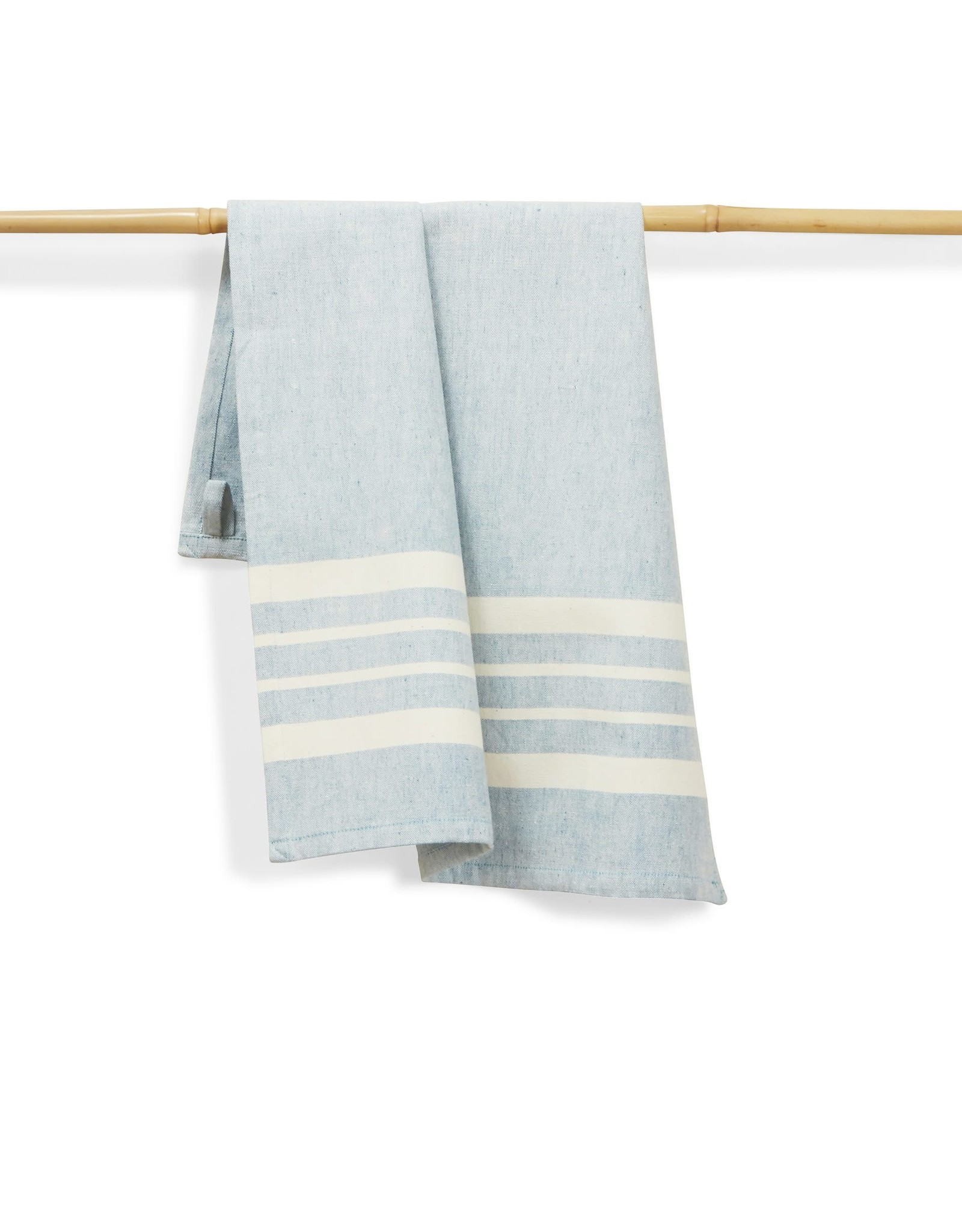 27 x 19 Cotton Handwoven Kitchen Towels Sky, India