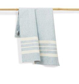 27 x 19 Cotton Handwoven Kitchen Towel Sky, India