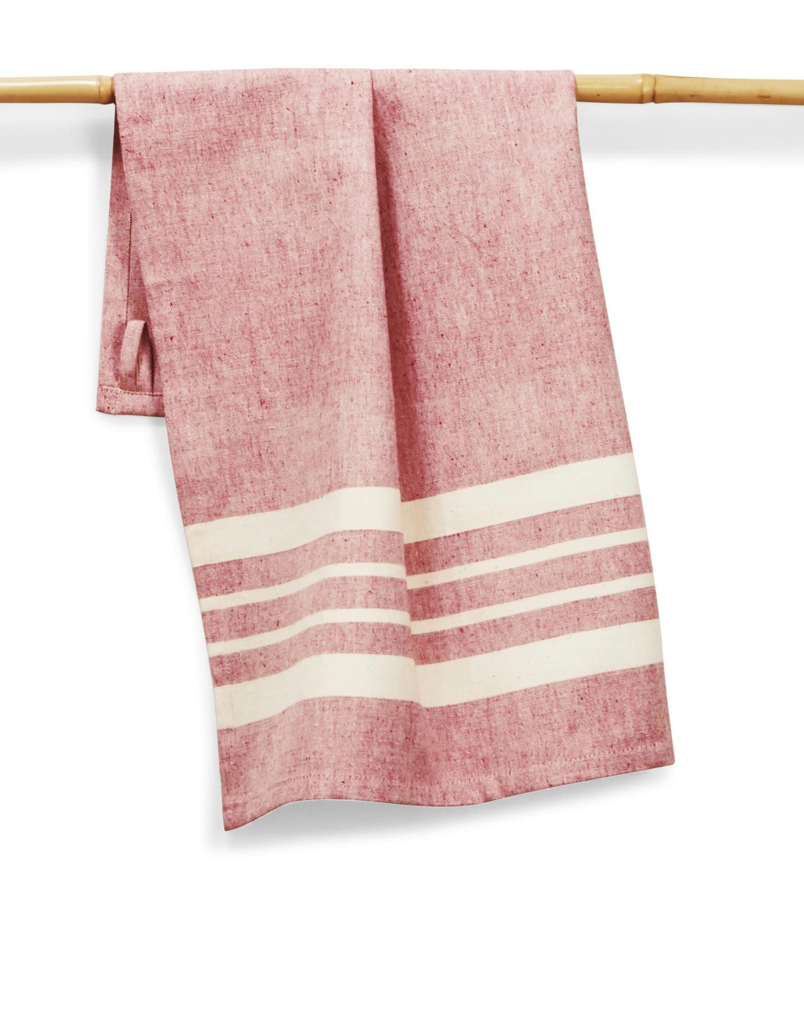 India, 27 x 19 Cotton Handwoven Kitchen Towels Tomato