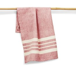 27 x 19 Cotton Handwoven Kitchen Towels Tomato, India