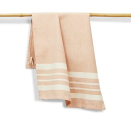27 x 19 Cotton Handwoven Kitchen Towel, Tangerine, India