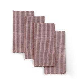 20 x 20 Cotton Napkins, Set of Four Red, India