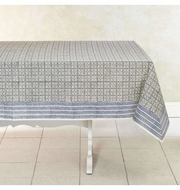 "India, Woven Cotton Tablecloth 90""x60"" Dove"