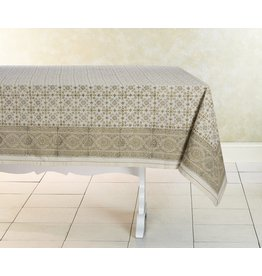 "India, Woven Cotton Tablecloth 90""x60"" Lily"