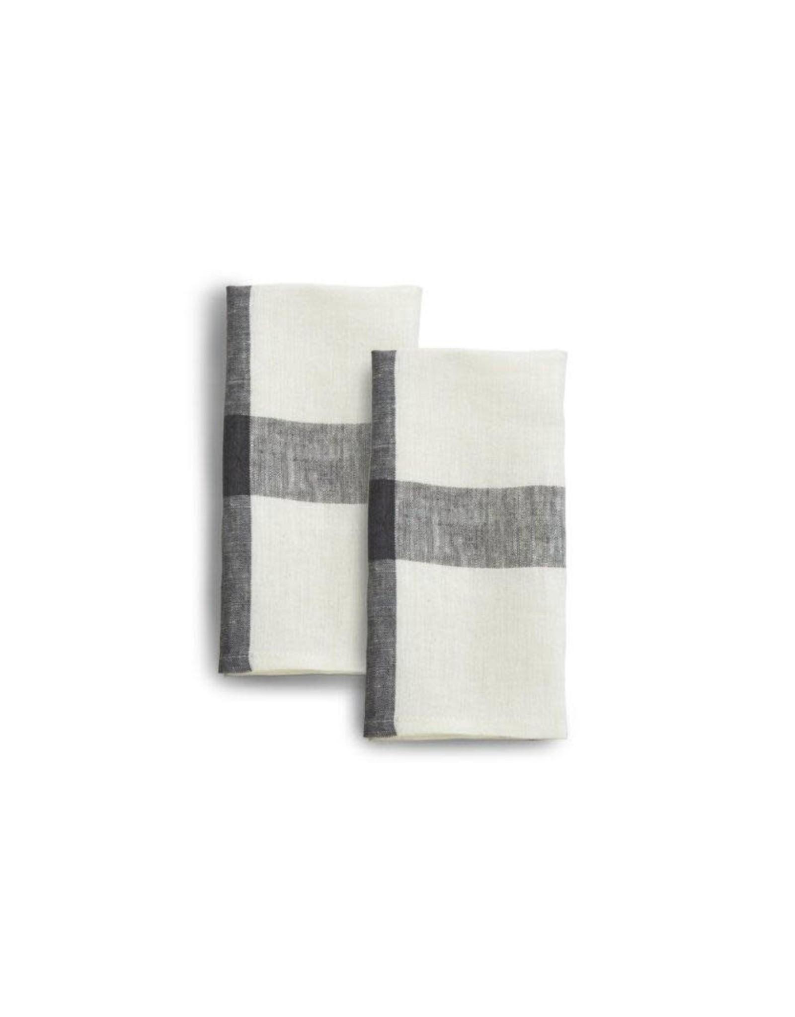 Linen, 20 x 20 Napkins, Set of 2 Blue Corn, India