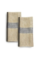 India, Linen, 20 x 20 Napkins, Set of 2 Cafe con Leche