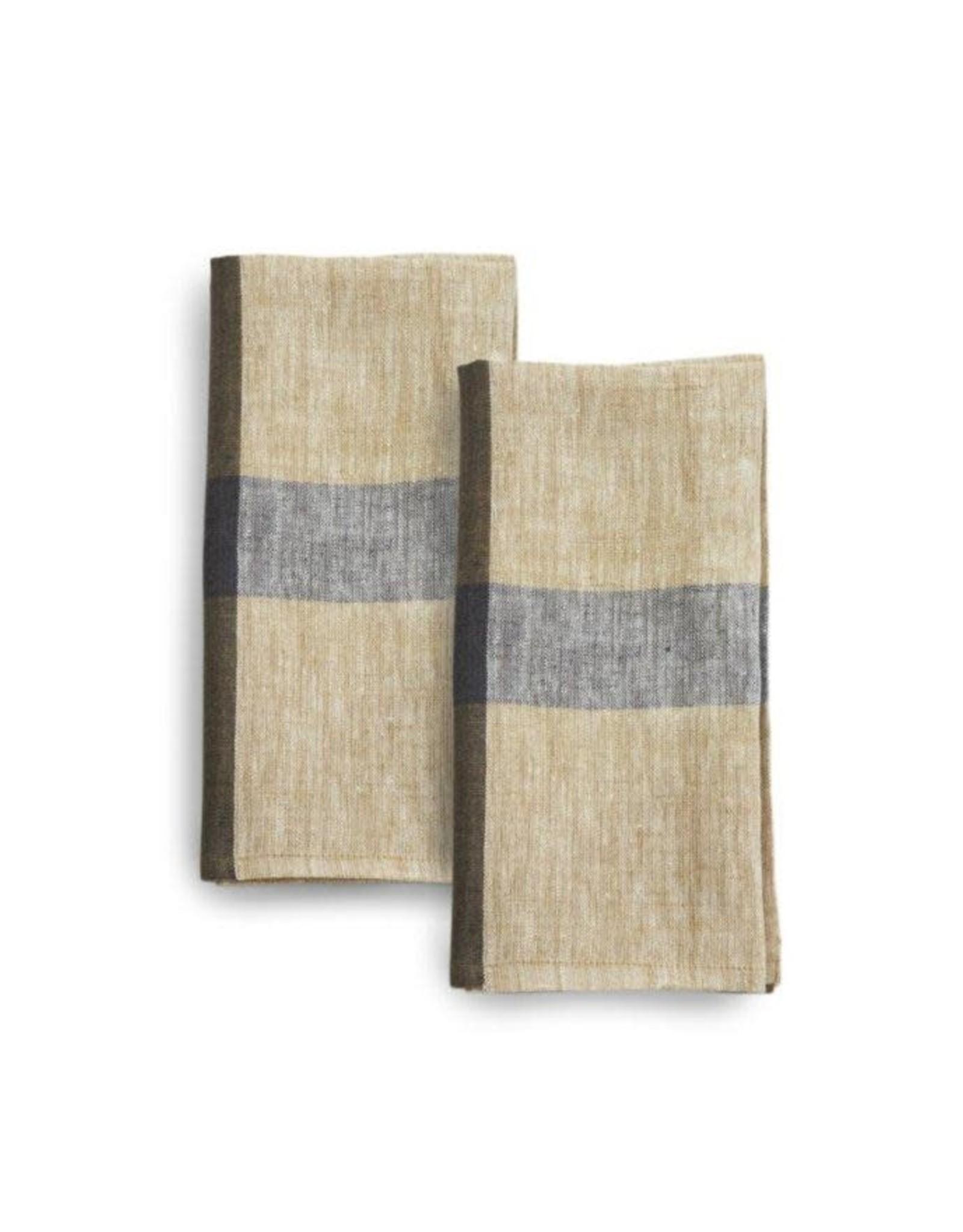 Linen, 20 x 20 Napkins, Set of 2 Cafe con Leche, india