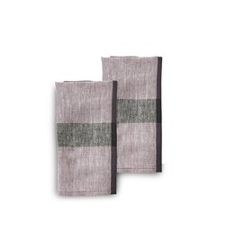 20 x 20 Linen Napkins, Set of 2, Fig, India