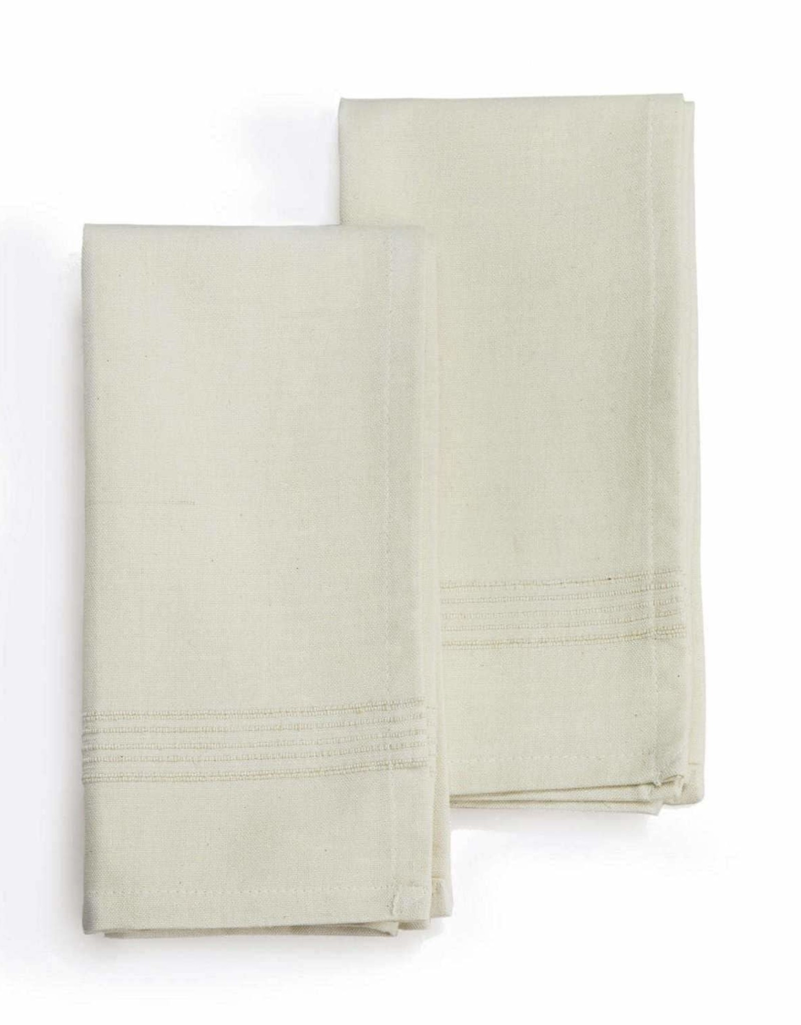 India, 20 x 20 Cotton Napkins, Set of Four Whipped Cream